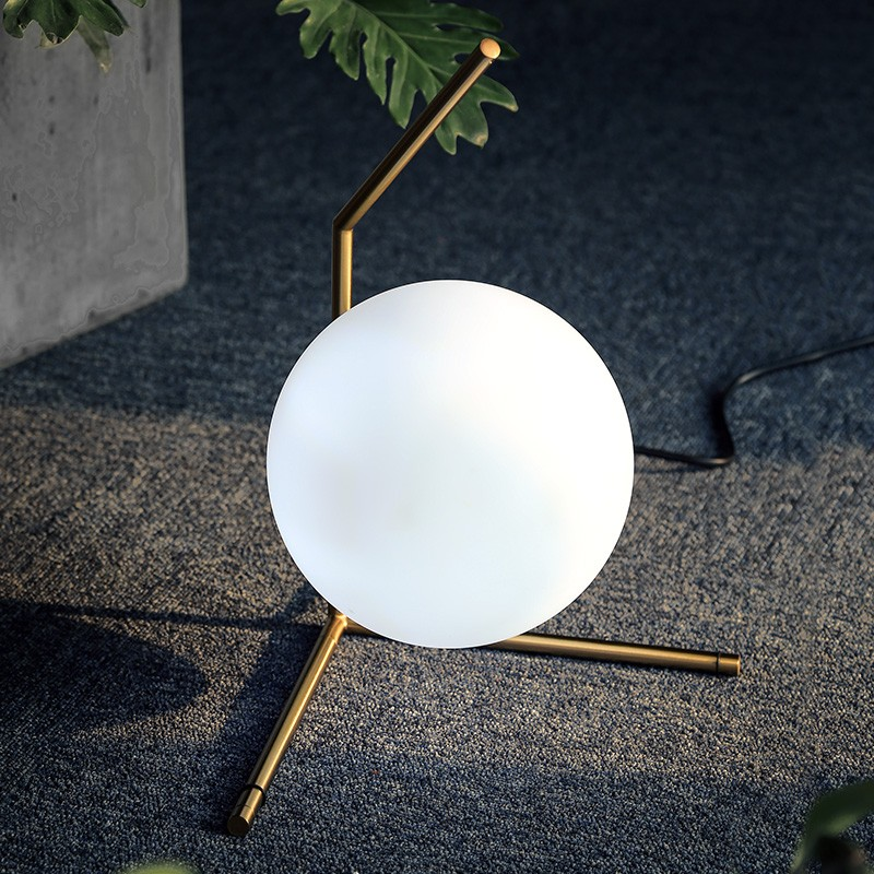 Table lamp modern style glass Nordic simple bedroom bedside lamp creative personality decorative ball CL FG382 LU1023