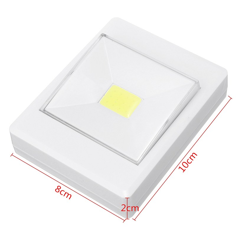 Battery Powered Wireless COB LED Night Light Cupboard Stir Closet Wall Lamp Switch With Magnetic