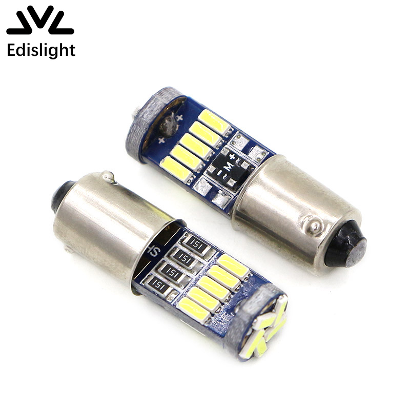 Edislight Canbus White BA9S T4W H6W LED Light 4014 15SMD Bulb Map Dome Reading Lamps For Audi A3 A4 A6 A8 Q7 S4 S6 No Error