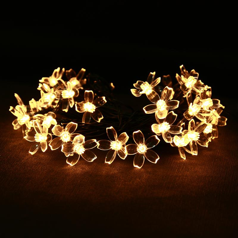 6M 30 LED Solar Powered Led Garlands String Lights Fairy Lighting Lamp For Home Party Wedding Christmas Decoration
