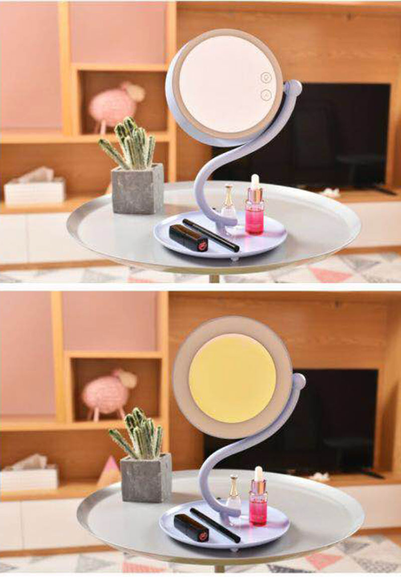 Mirror Desk Lamp 360 Degree Rotation Make Up Magnifying Led Onefire Charging Night Light 3
