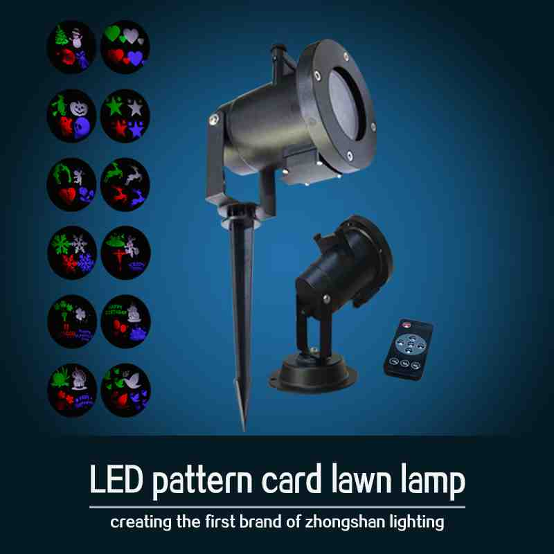LED12 card lawn light (with remote control) Christmas lights, family projection lights