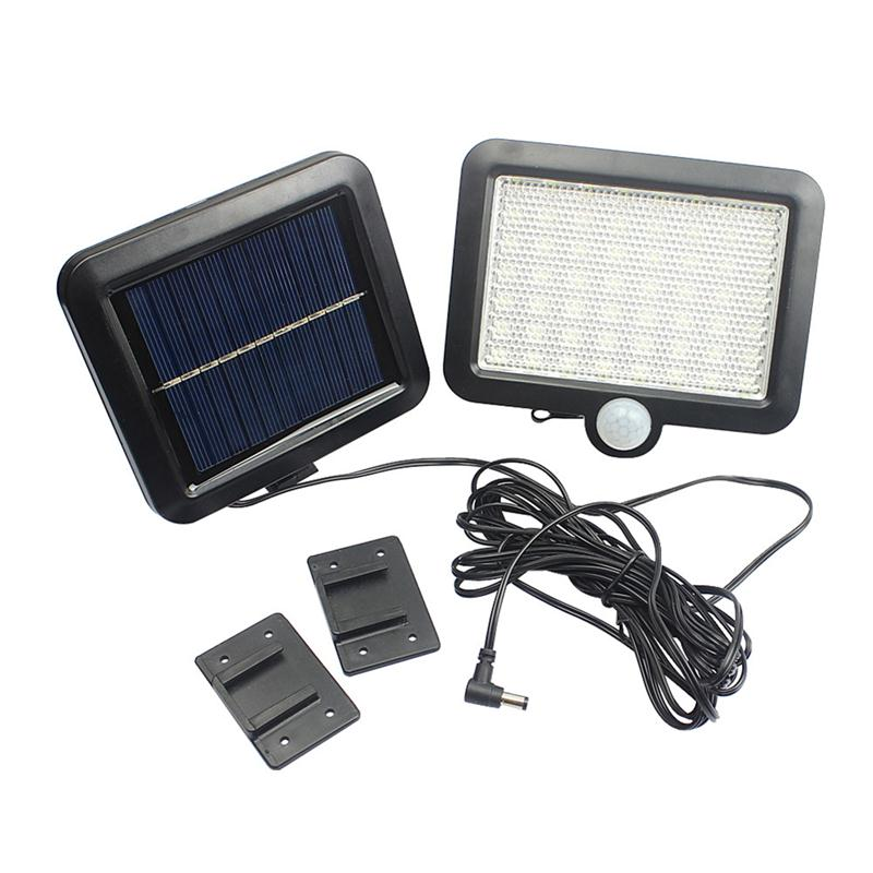 56LED Wall Sconce Solar Powered Wall Light Lamp Body Induction Motion Street Light Sensor for Garden Yard, Patio, Deck