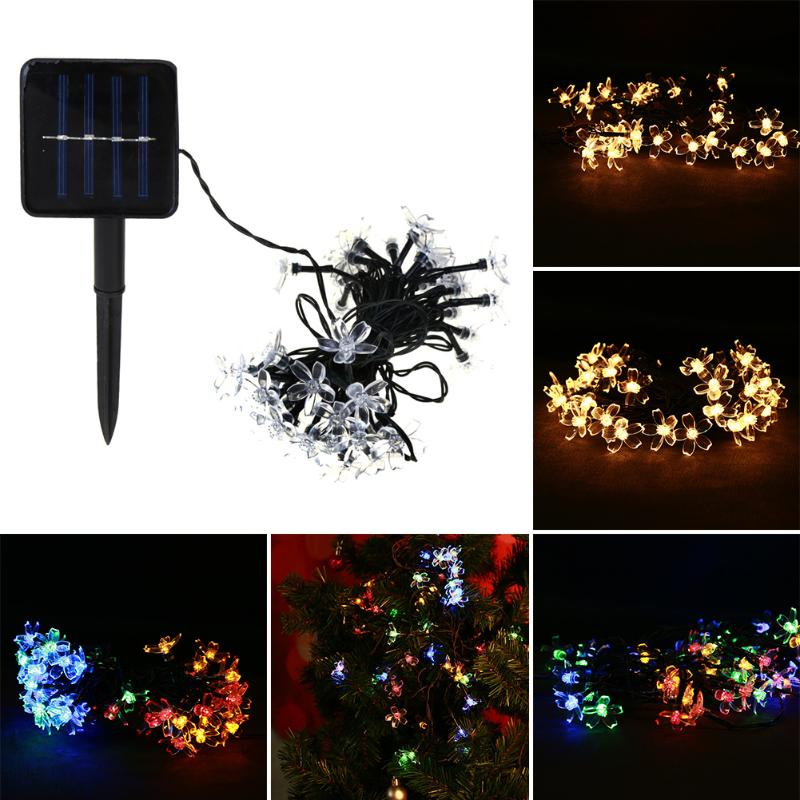 Solar Lamps Copper Wire 30pcs LED String Lights Outdoor Fairy Lawn Lights for Christmas Home Party Holiday Decoration