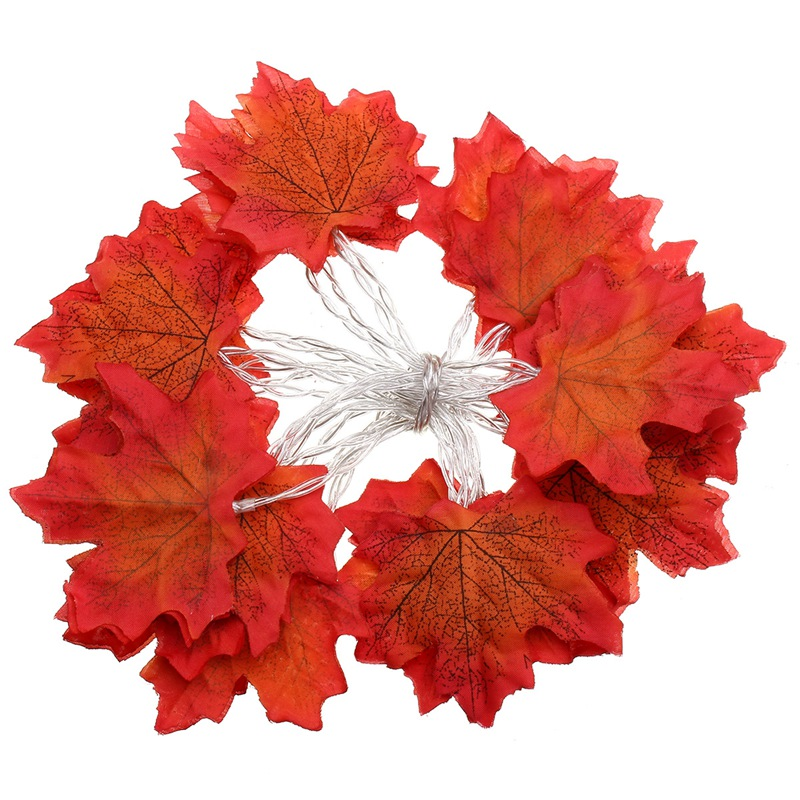 230CM Fall Leaves 20 LED String Light Battery Powered String Fairy Light Autumn Leaf Garland Party Wedding Christmas Decoration