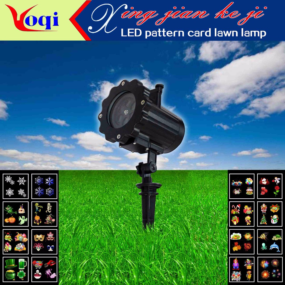 LED16 card lawn lights (no remote control) for Christmas, Halloween, parties, garden landscaping.