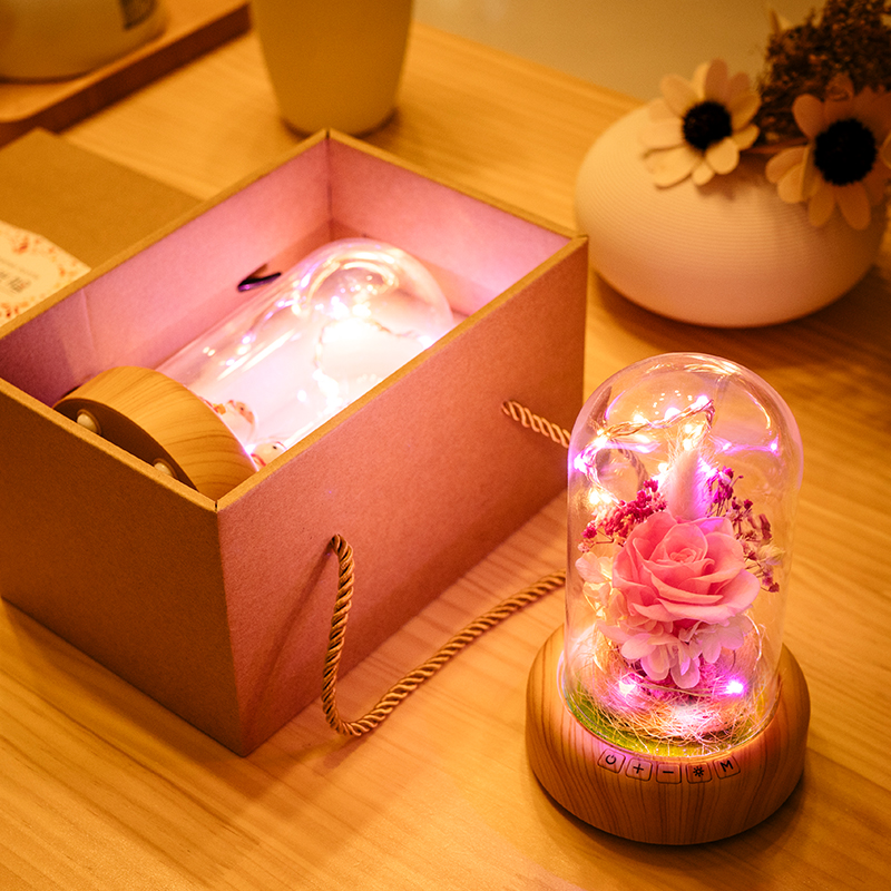 Christmas Lights Outdoor Decoration LED Night Light Dream Streamer Bottle Bluetooth Speaker Ever-fresh flower version