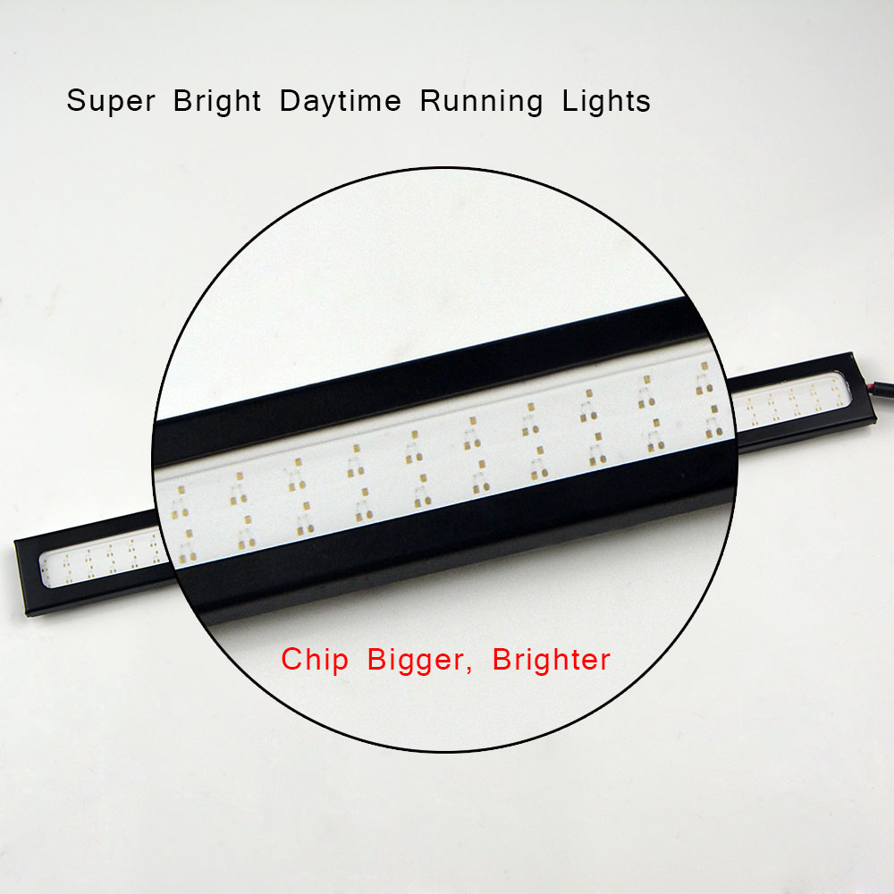 1Pcs New update Ultra Bright LED Daytime Running lights DC 12V 17cm 100% Waterproof Auto Car DRL Bar light Driving Fog lamp