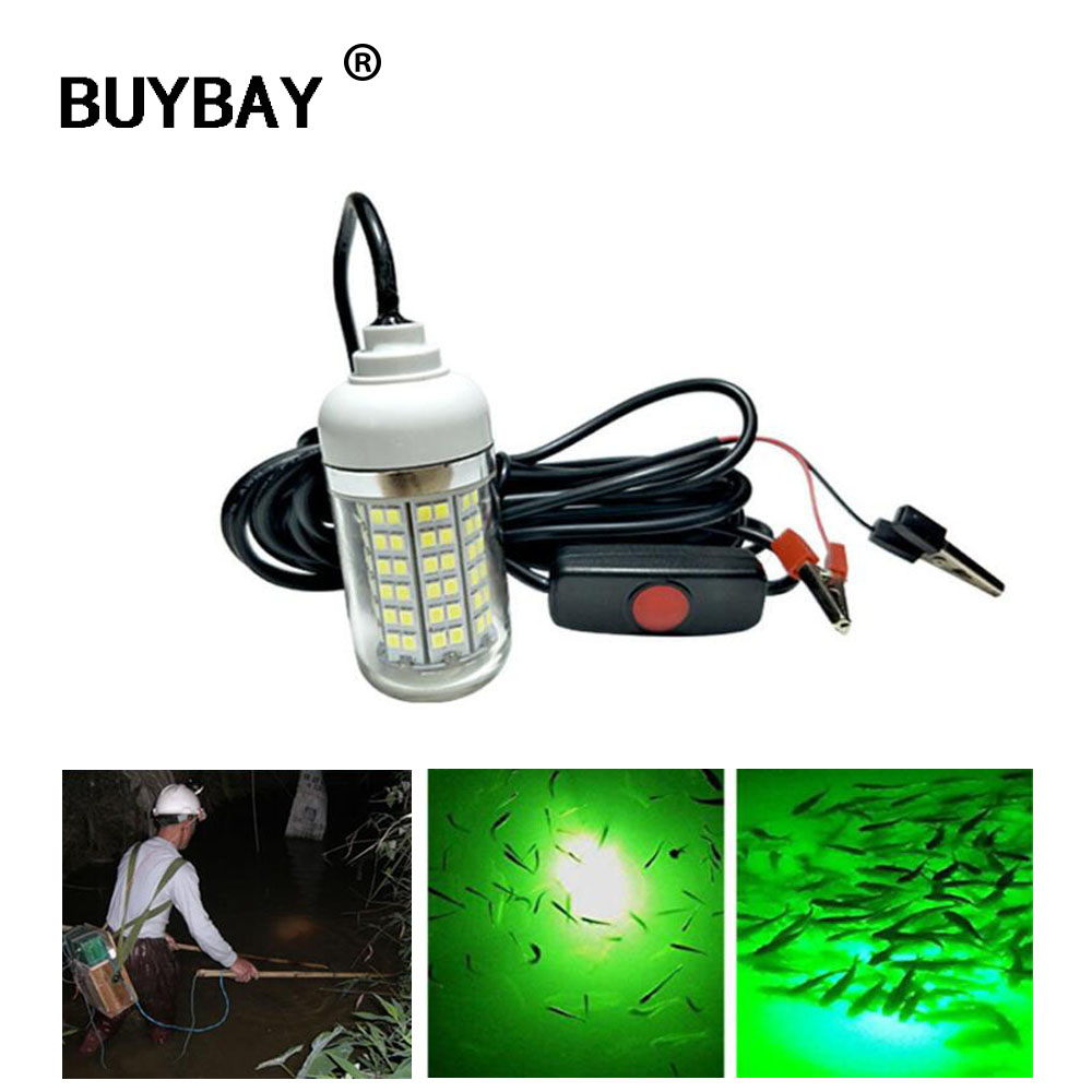 12V LED Underwater Fishing Light Lamp 15W Fishing Boat Light IP68 LED Night Fishing Lure Lights for Attcating Fish lightings