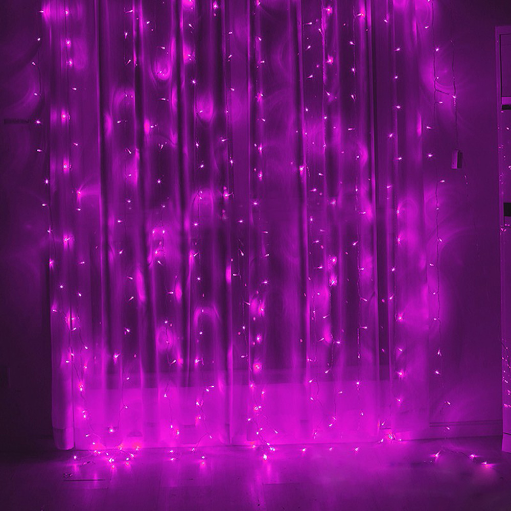 3*1M Christmas Garlands LED String Christmas Net Lights Fairy Xmas Party Garden Wedding Decoration Curtain Lights P20