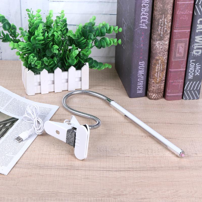 New Dimmable LED Sensor Desk Light Eye Protection Lamp Flexible Lighting Table Lamp Protection Desk Clamp Lamp(White)