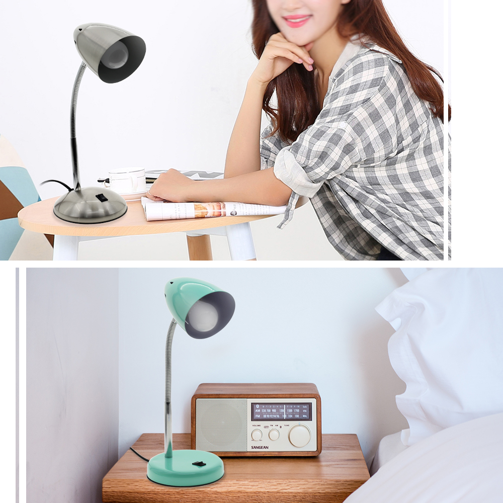 LED Reading Desk Lamp 220V 5W Full Metal Lampshade 360 Degree Rotating Table Lamp