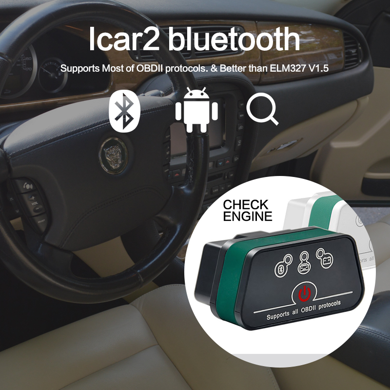 light Bluetooth ELM 327 V2.1 ODB 2 Car