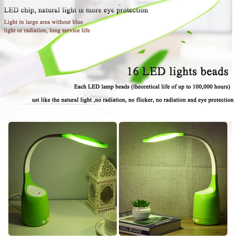 LAIDEYI Eyes-Protect LED Desk Lamps USB Humidifier Night Lights Bedroom Bedside Decoration Reading Led Lamp Office Lamp