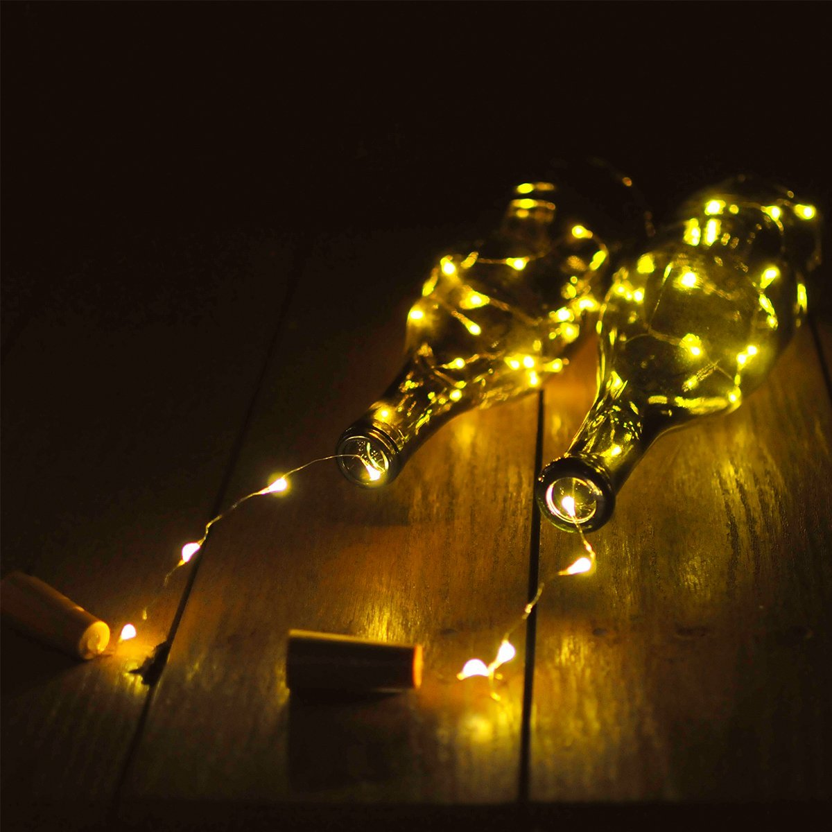 Wine Bottles String Lights Garden Decor 6 Packs Micro Artificial Cork Copper Wire Starry Fairy Lamp mini Lights Decoration