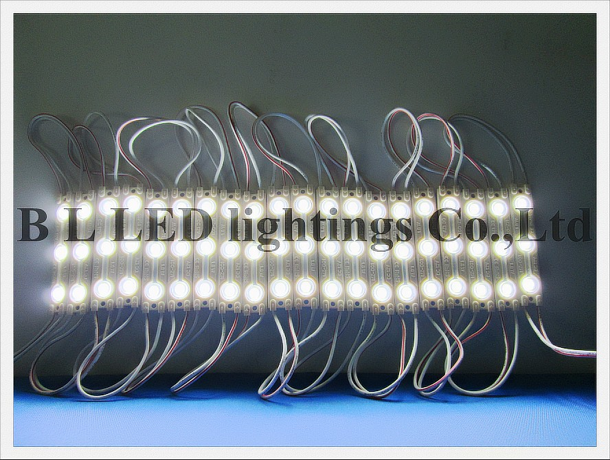 high bright with lens and aluminum board waterproof injection LED module lamp sign letter light DC12V 3led 70mm*15mm