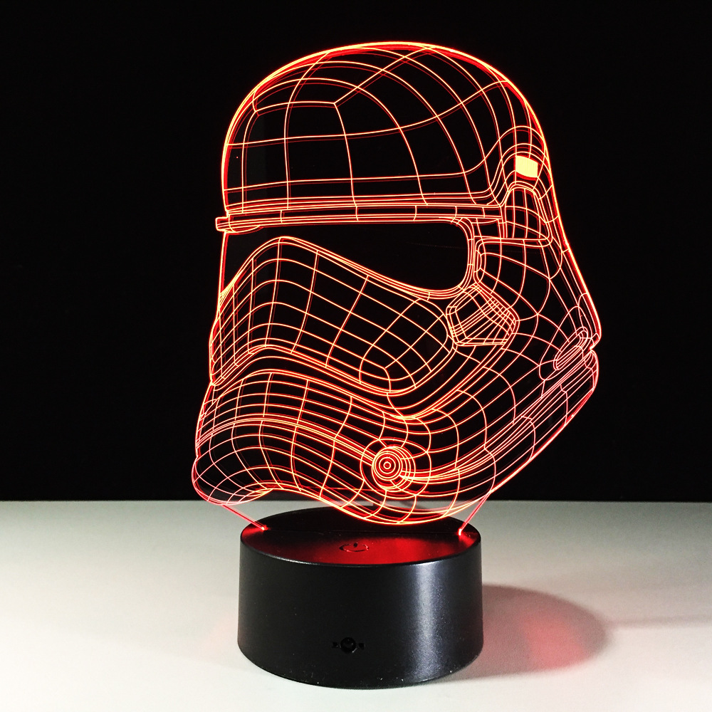 Star Wars Imperial Stormtrooper RGB Color Changing 3D Led Light USB Creative 3D Lighting Lamp Visual Night Lights Star War