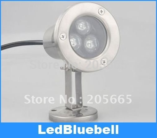 3W Underwater LED Spotlight Swimming Pool Lamp Waterproof Warm White/ Pure White 12V