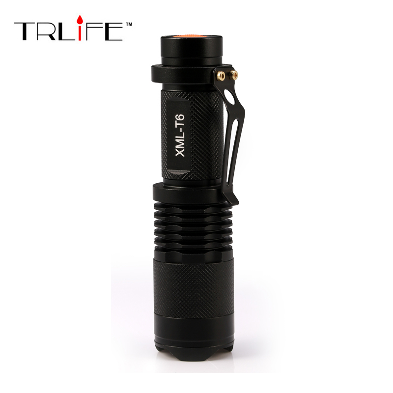 Lanternas Led CREE 10W XM L T6 Mini Flashlight Linternas 2300 Lumens Zoom In & Out Lights Searchlight Flash Lights