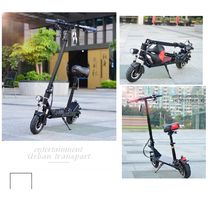New Powerful 8inch wheels Foldable Electric Scooter 350W 35Km/h 50kms folding Electric Bike electric Hoverboard with fold Seat