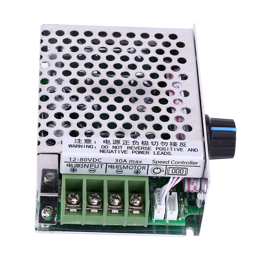 12V-80V DC Motor Speed PWM Regulator 30A PWM DC Motor Controller with Case DC Treadmill Motor