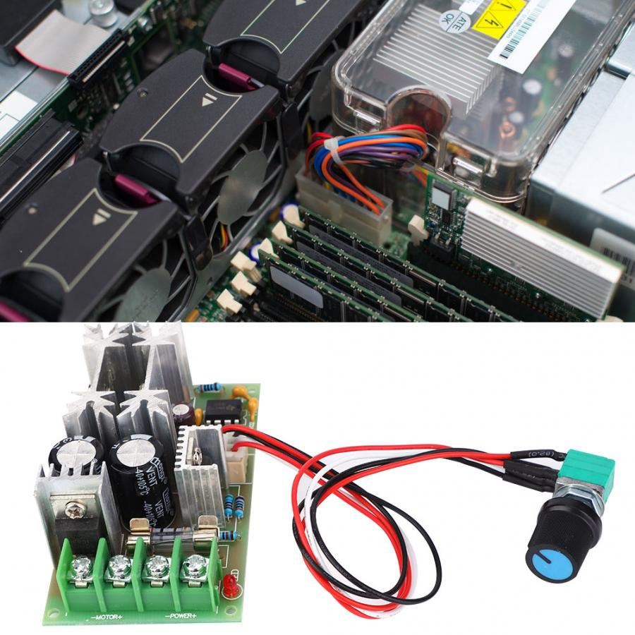 Soft Starting Large Power Motor Controller PWM 0~20A Motor Speed Regulator Controller DC10~60V