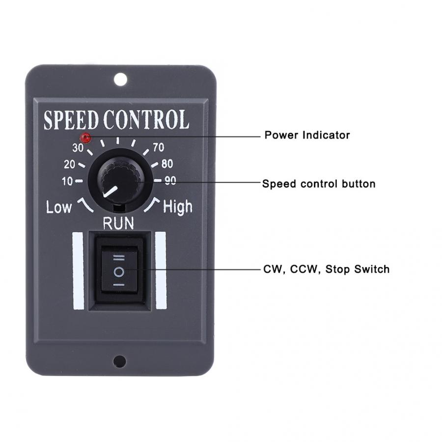 DC 10V-60V Motor Speed Controller Governor Speed Control Switch CW/CCW Motor Governor 6A Motor Regulator