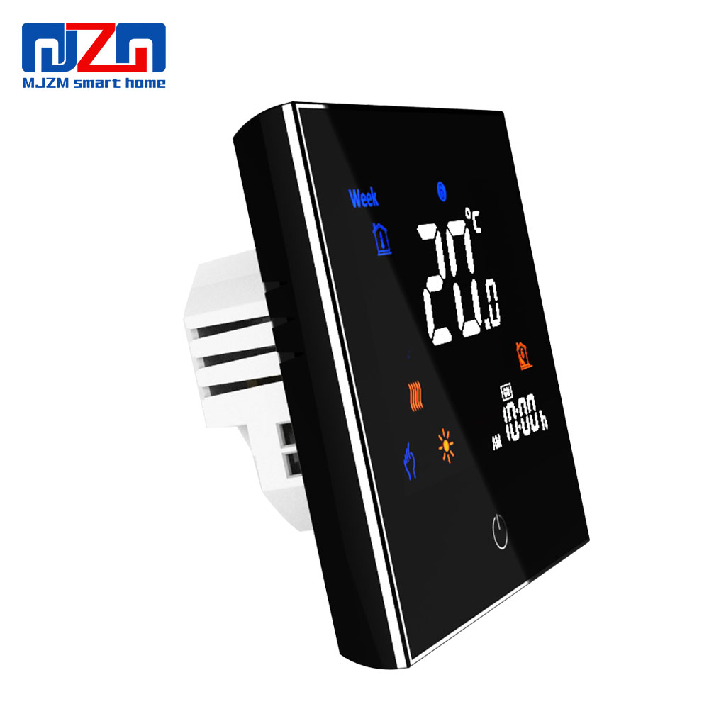 MJZM 16A-3000 Electric Floor Heating Thermostat Black Digital Thermostat Programmable Color Screen Room Temperature Regulator