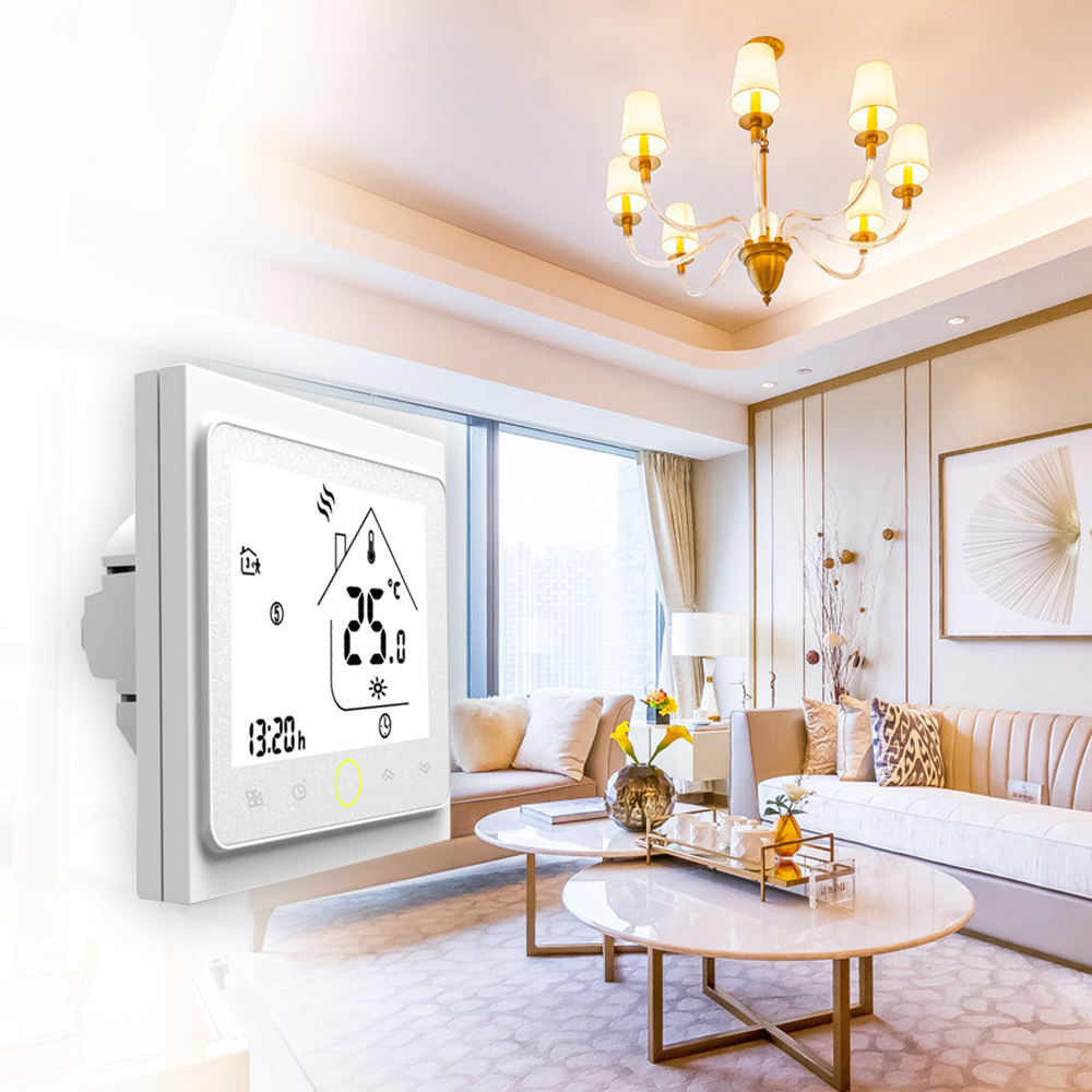 Home LCD Display Smart Thermostat Temperature Controller Energy Saving 3A Water/Gas Boiler Heating Thermostat with Touchscreen