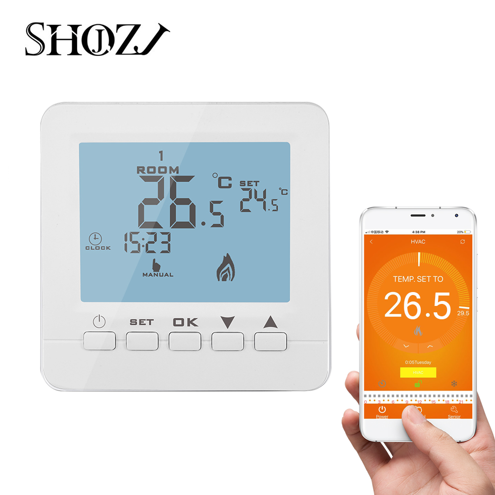 LCD Digital Gas Boiler Temperature Controller Programmable Wall-Mounted Temperature Controller with Child Lock