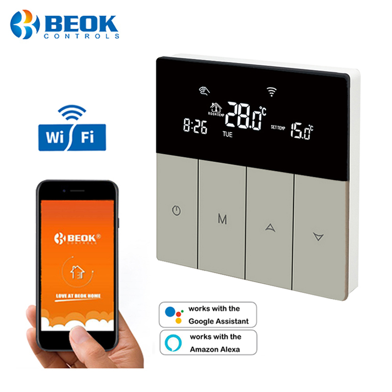 BEOK WiFi Thermostat App Control Programmable Floor Heating Temperature Controller for Smart Home Google Home & Alexa