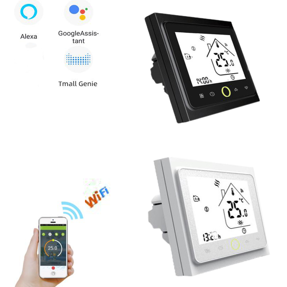 Smart WiFi Thermostat Temperature Controller Water Electric Warm Floor Heating Water Gas Boiler Works with Alexa Google Home