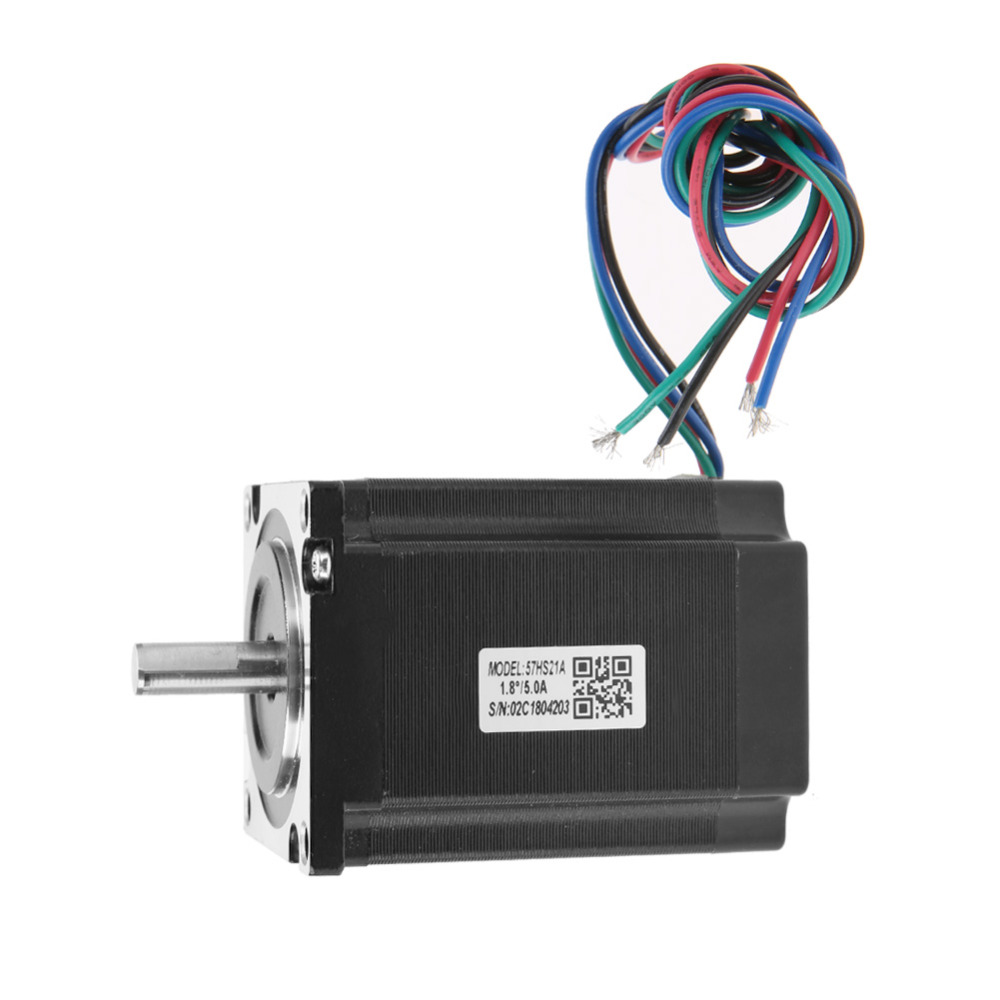 CNC NEMA23 2 Phase Stepper Motor 57HS21A 8mm Shaft 76mm Length 5A 2.1Nm Applicable for CNC Automation Machine Equipment HotSale