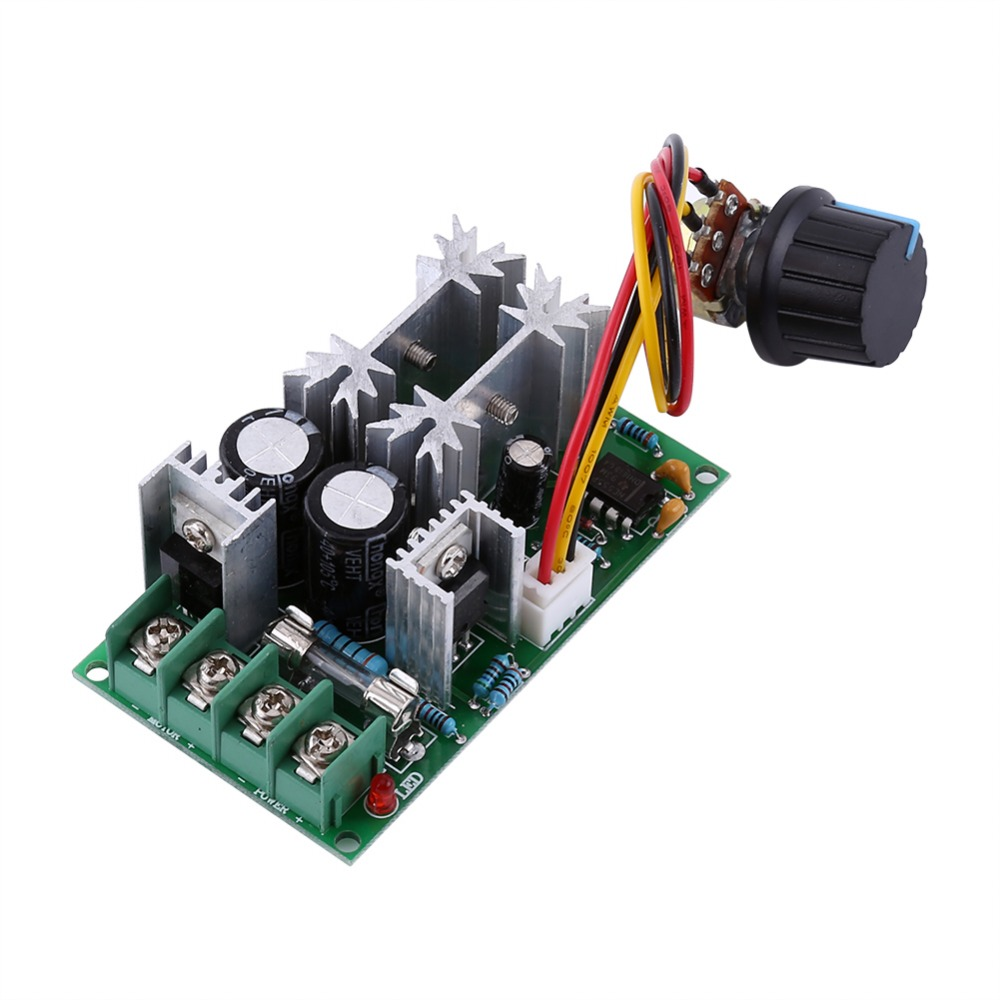 20A DC10-60V 12V 24V PWM Motor Speed Regulator Controller Switch High Power Driver Module Adjustable Speed Board High Quality