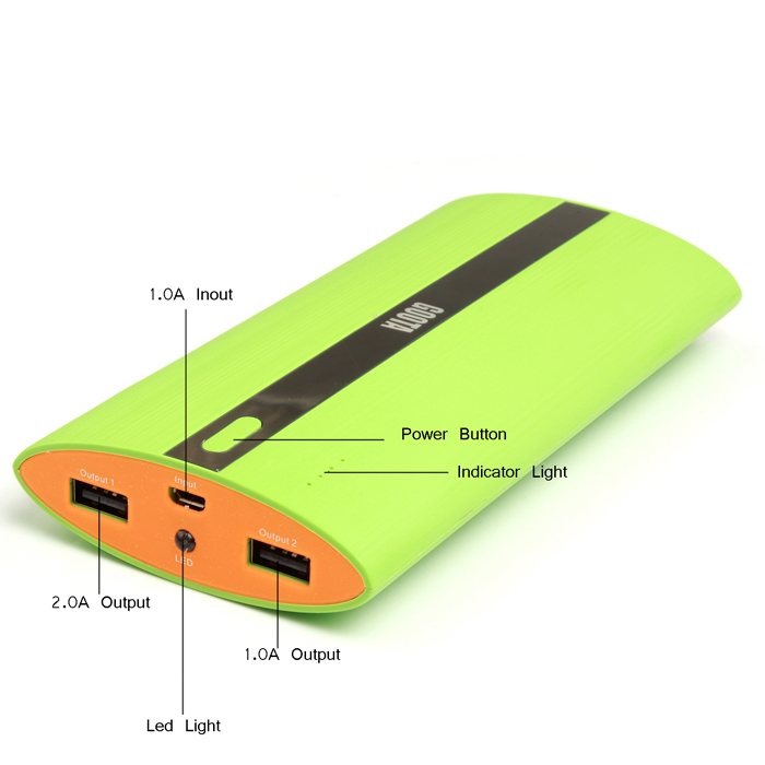 12000mAh charge for mobile phone tablet pc portable battery pack