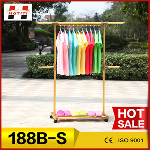 188B-S heat resisting substantial telescopic clothing rack clothes dryer with gold color