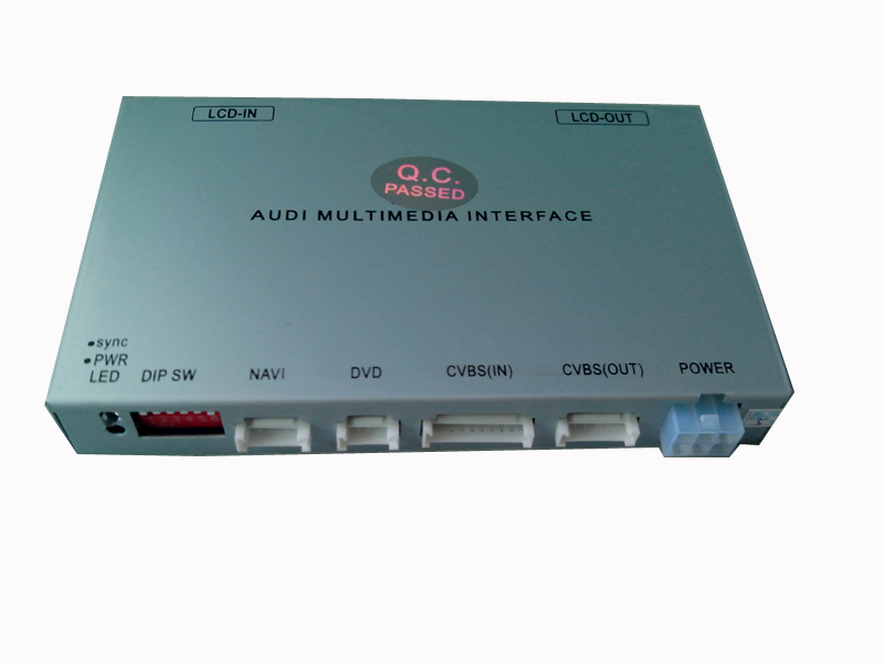 Audi 2G MMI interface video for A4 A5 A6 Q7 A8 with 7 inch, square connector