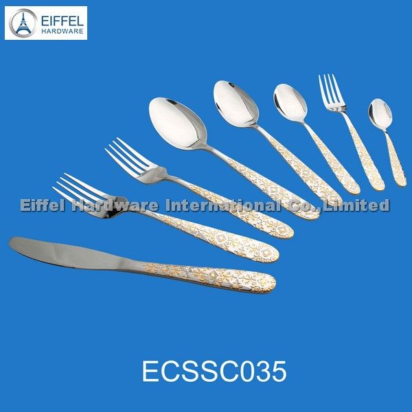stainess steel cutlery with nice pattern