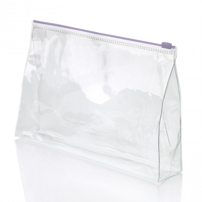 Clear Pvc Slide Zippered Toiletry Bag From China