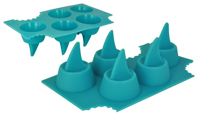 Food Safe Shark Fin Shaped Ice Cube Tray Shapes For Ice