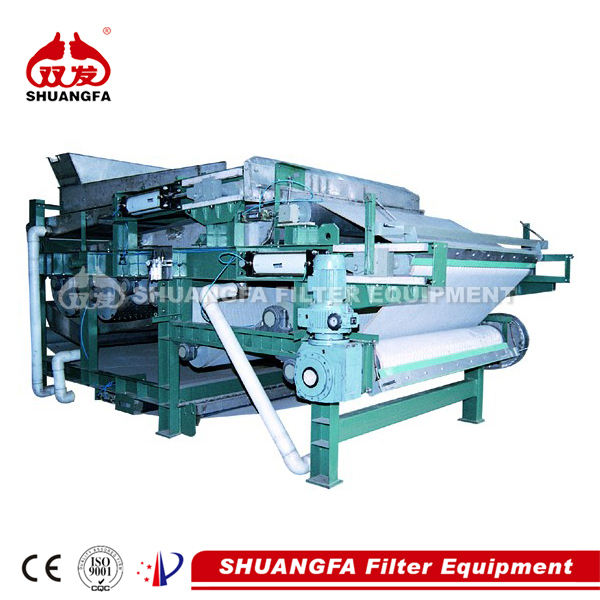 SF sludge dewatering belt filter press with best dewatering effect.