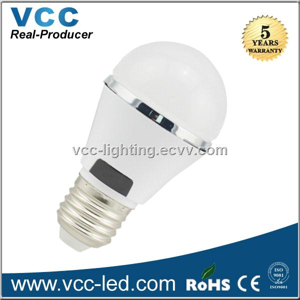 Low Price 5W led bulb with white plastic housing