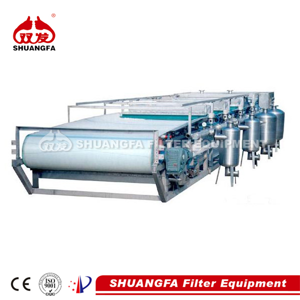 SF vacuum belt filter for industrial wastewater treatment, better filteration effect
