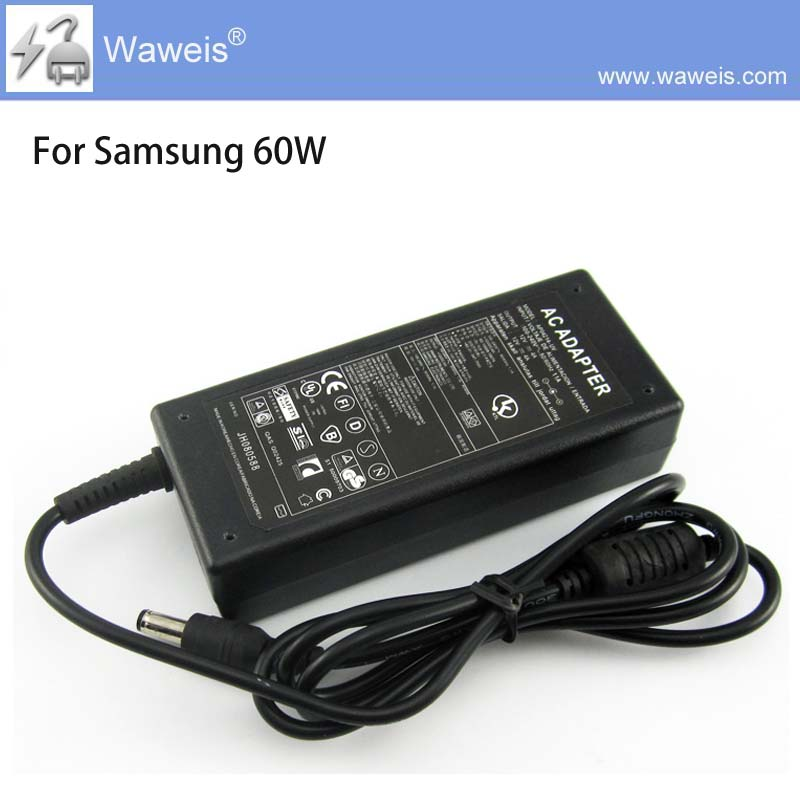 Waweis Replacement power adapter 19v 3.16a 60W for samsung  ac adapter 5.5*3.0mm Ad-6019