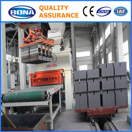 Fully atuomatic hydraulic fly ash brick machines