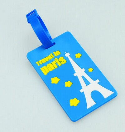 Custom soft pvc luggage tag