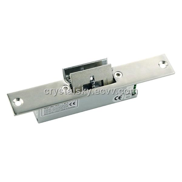 Fail Safe Electric Strike For Frameless Glass Door With Signal Output Lock