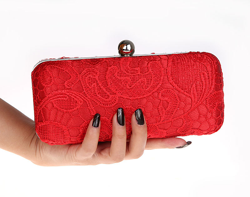 Beautiful Elegant Women S Lace Clutch Purse Bag Red Evening