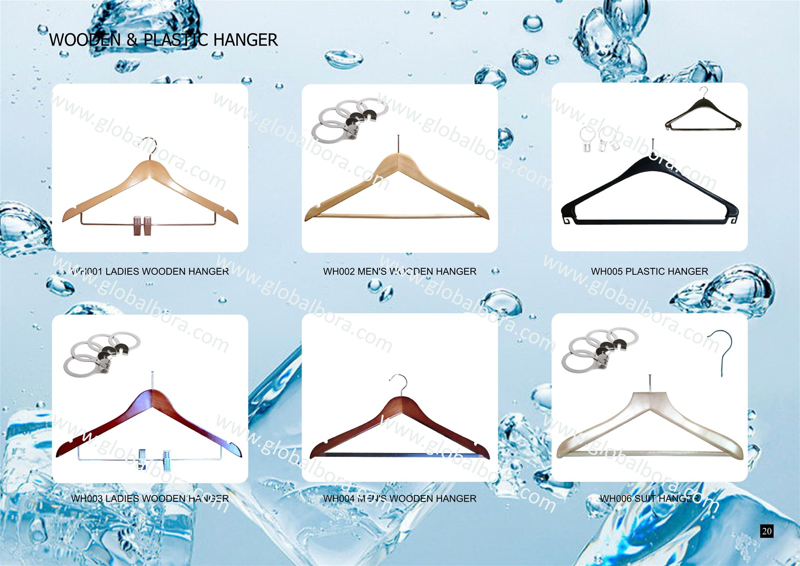 wooden hangers, plastic hangers, security rings