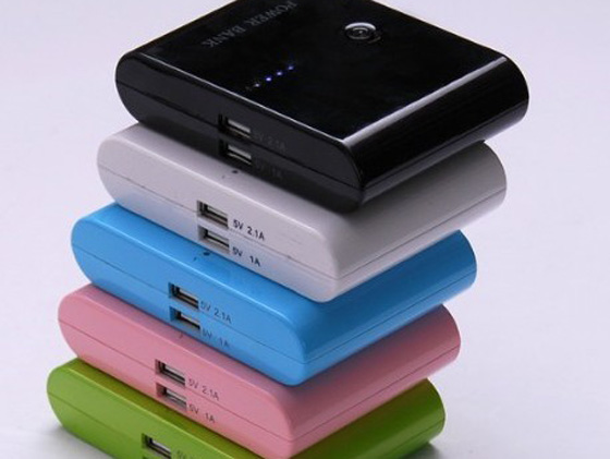 DEL-097 portable dual power bank for iphone and ipad